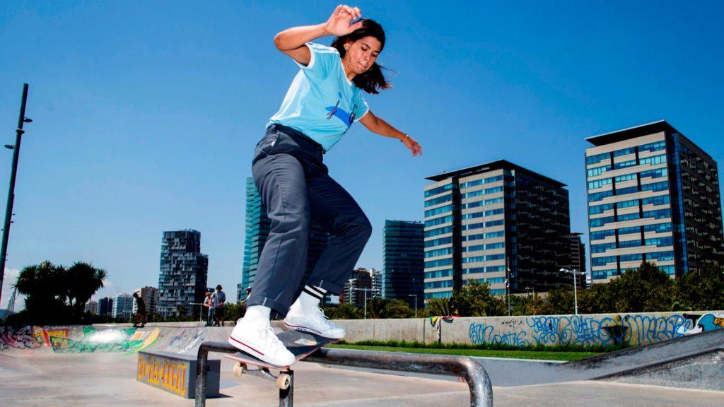 Andrea Benítez, única skater profesional española, mira a Tokio 2020